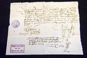 старинный рукописный документ