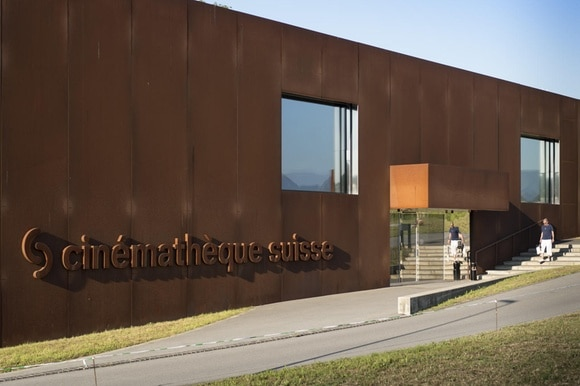 View of the exterior of the new research and archive centre at Penthaz.
