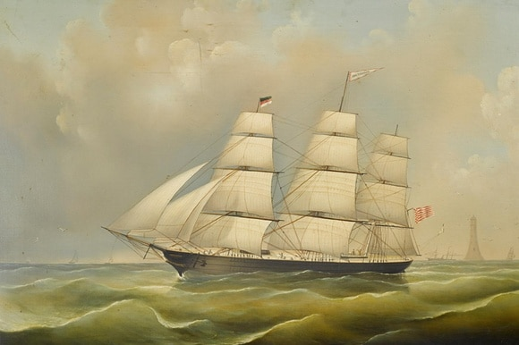 The Ida Ziegler, one of three ships that belonged to Winterthur merchants