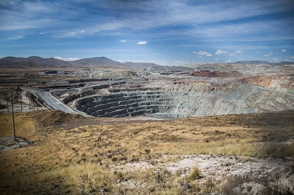 Copper mining in Peru