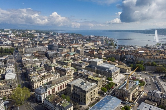 Aerial view of Geneva