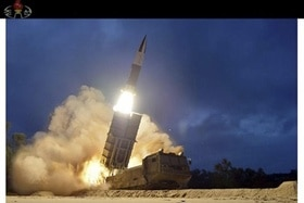 Test firings of a North Korean weapons system