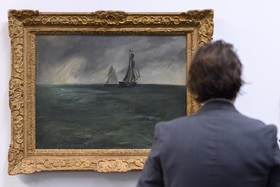 Manet s painting Marine, Temps d'orage (Stormy Sea)