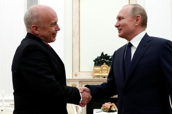 Ueli Maurer und Wladimir Putin