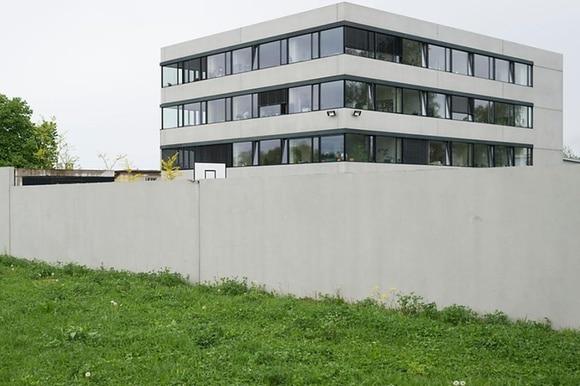 austere building