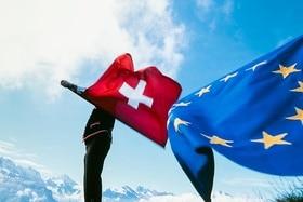 Swiss and EU flags