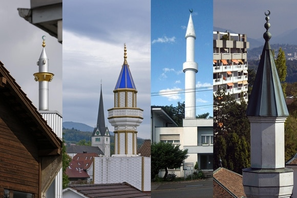 Collage of Minarets in Switzerland