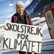 16 year-old Swedish climate activist Greta Thunberg