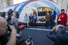 Official inauguration ceremonies were held in cantons Vaud, Geneva and in neighbouring France