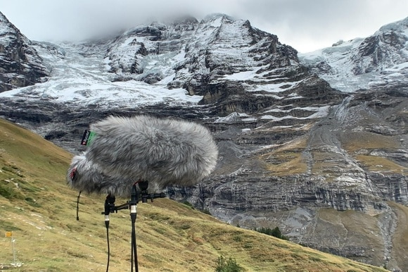 microphones recording mountains