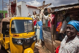 auto rickshaw and jesus