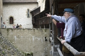 George R. R. Martin at Château de Chillon