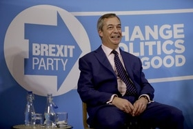 Nigel Farage of the Brexit party