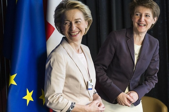 two women smiling