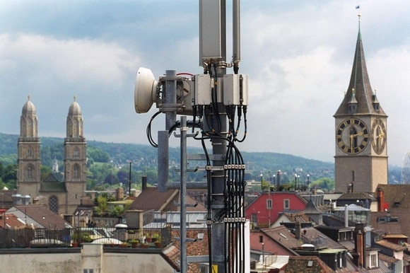 A mobile phone antenna in Zurich