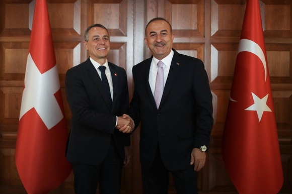 foreign ministers of switzerland and turkey
