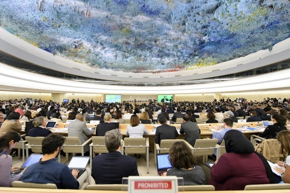 A view inside the Human Rights Council