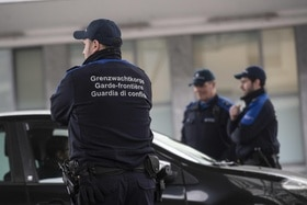 Border guards in Switzerland