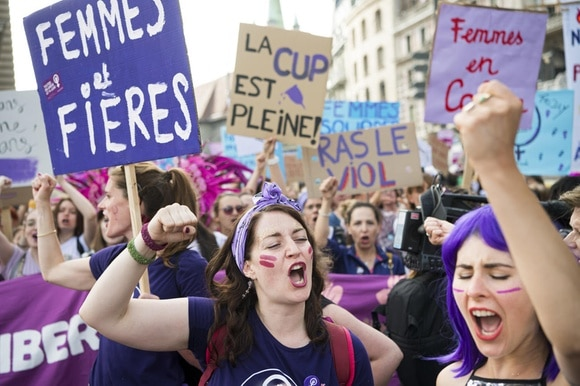 women s strike in Lausanne