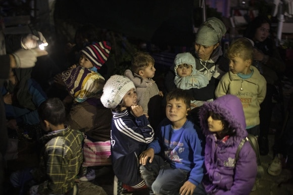 Child refugees in Greece