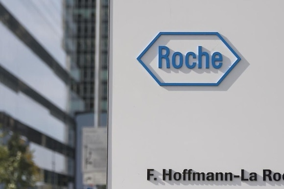 Roche logo on building