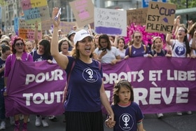 Women s demonstration in Lausanne in 2019