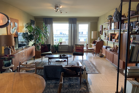 Interior of the apartment in 60s style