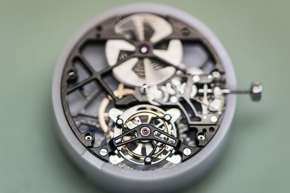 clockwork of a wrist watch