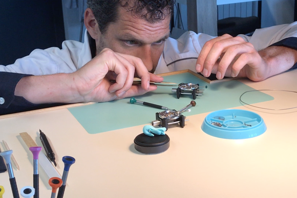 A man making a watch