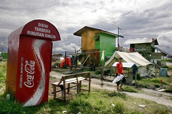 Coca-Cola-Werbung in Indonesien