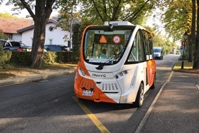 Driverless bus in Geneva