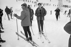 A young Prince Charles on the ski slopes