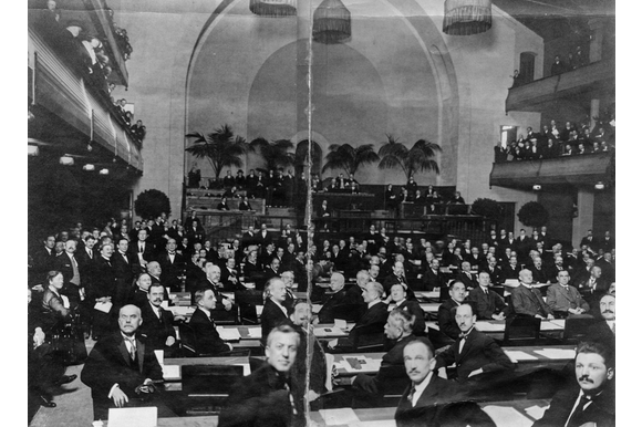 First meeting League of Nations