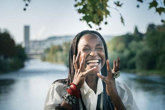Koyo Kouoh during interview in Zurich