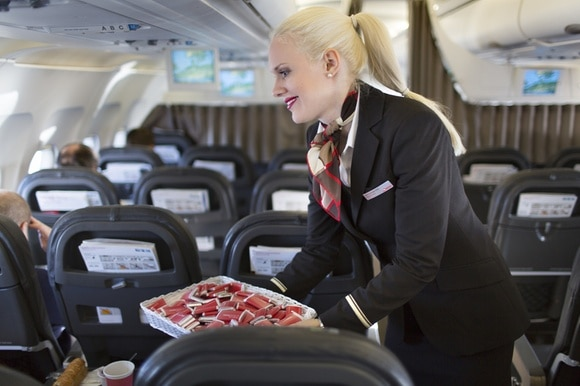 Swiss flight attendant