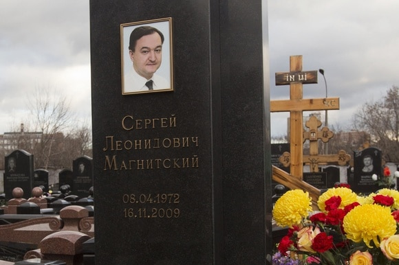 The grave of Sergei Magnitsky
