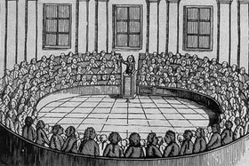 assembly of people cartoon