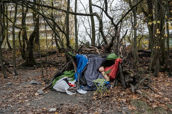 A homeless person s shelter