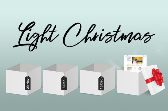 Light Christmas advent boxes