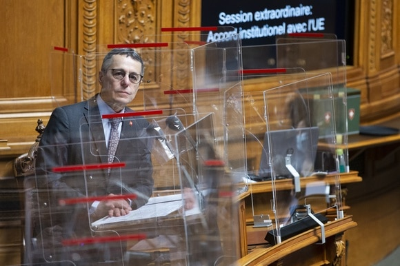 Foreign Minister Cassis in parliament