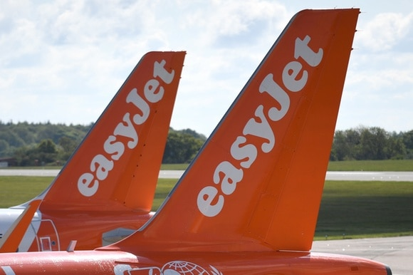 easyjet planes on ground