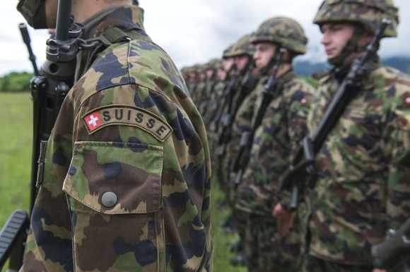 Swiss army recruits