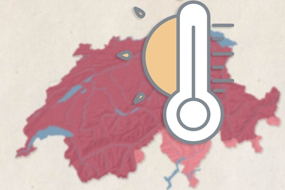Temperatures in Switzerland