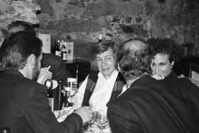 Highsmith in un ristorante di Locarno