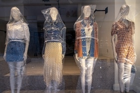 Dummies wrapped in plastic