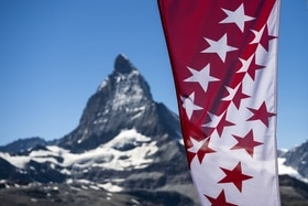matterhorn and valais flag