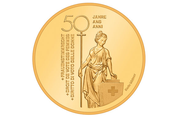 CHF50 coin women s suffrage