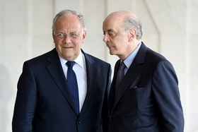 José Serra receives the Swiss president in Brasilia
