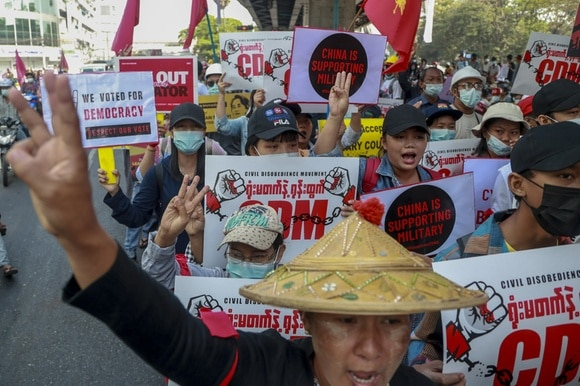 Protest in Myanmar