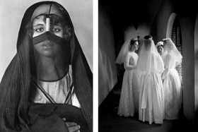 Women who wear the veil, left an Egyptian woman, left; Brides of Christ